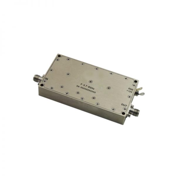 Ultra Wide Band Low Noise Amplifier From 0.7GHz to 6GHz With a Nominal 47dB Gain NF 2.5dB SMA Connectors