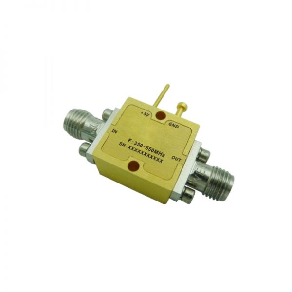 Ultra Wide Band Low Noise Amplifier From 0.35GHz to 0.55GHz With a Nominal 16dB Gain NF 1.2dB SMA Connectors