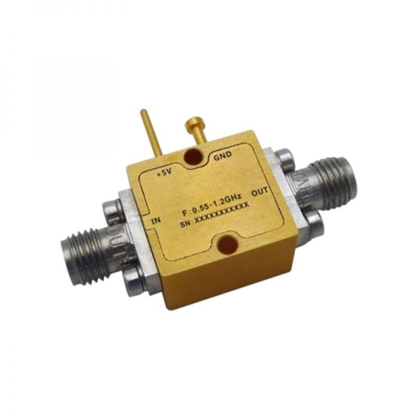 Ultra Wide Band Low Noise Amplifier From 0.55GHz to 1.2GHz With a Nominal 16.5dB Gain NF 0.8dB SMA Connectors