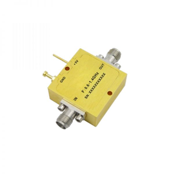 Ultra Wide Band Low Noise Amplifier From 0.6GHz to 1.4GHz With a Nominal 29dB Gain NF 0.9dB SMA-Female Connectors