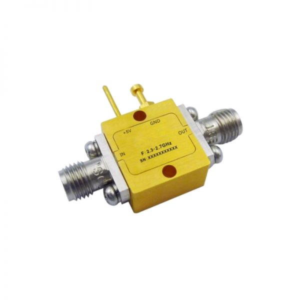 Ultra Wide Band Low Noise Amplifier From 2.3GHz to 2.7GHz With a Nominal 19dB Gain NF 0.75dB SMA Connectors