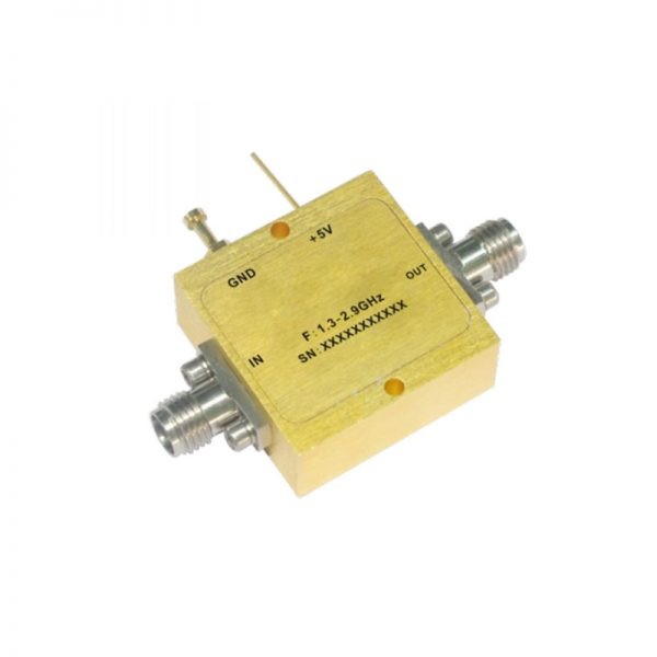 Ultra Wide Band Low Noise Amplifier From 1.3GHz to 2.9GHz With a Nominal 26dB Gain NF 1.2dB SMA Connectors