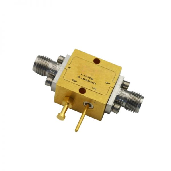 Ultra Wide Band Low Noise Amplifier From 0.3GHz to 3GHz With a Nominal 15dB Gain NF 2.8dB SMA Connectors