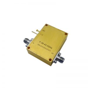 Ultra Wide Band Low Noise Amplifier From 20GHz to 43.5GHz With a Nominal 45dB Gain NF 2.5dB 2.92mm Connectors