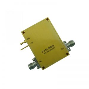 Ultra Wide Band Low Noise Amplifier From 0.01GHz to 50GHz With a Nominal 45dB Gain NF 4dB 2.4mm Connectors