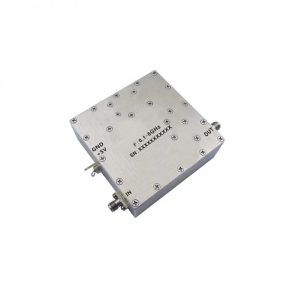 Ultra Wide Band Low Noise Amplifier From 0.1GHz to 6GHz With a Nominal Pout-PindB Gain NF dB SMA Connectors