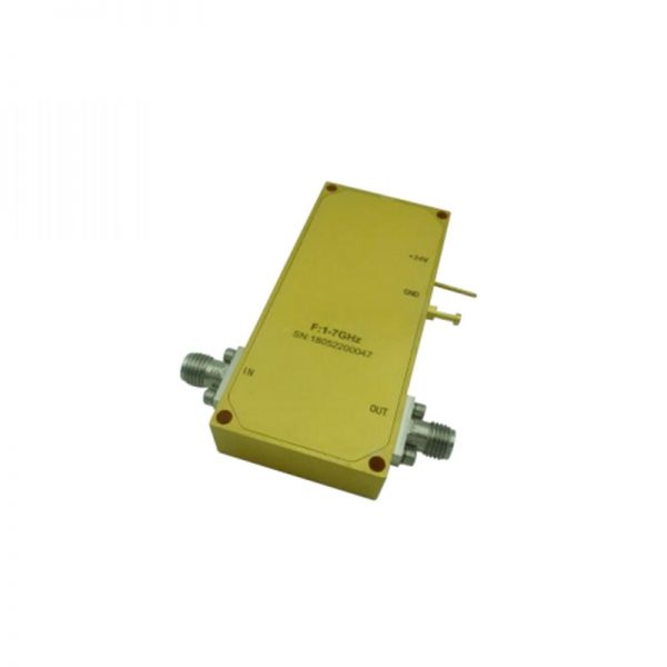 Ultra Wide Band Low Noise Amplifier From 1GHz to 7GHz With a Nominal 42dB Gain NF 1.5dB SMA Connectors