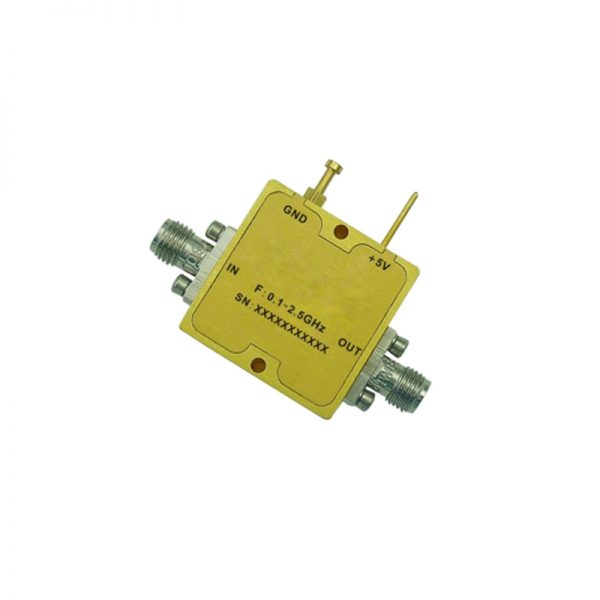 Ultra Wide Band Low Noise Amplifier From 0.1GHz to 2.5GHz With a Nominal 20dB Gain NF 2dB SMA Connectors