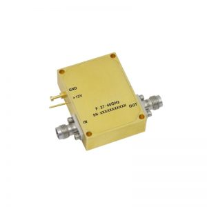 Ultra Wide Band Low Noise Amplifier From 27GHz to 40GHz With a Nominal 37dB Gain NF 2.8dB 2.4mm Connectors