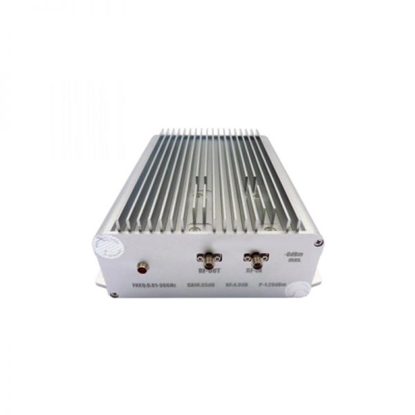Ultra Wide Band Low Noise Amplifier From 0.01GHz to 30GHz With a Nominal 35dB Gain NF 4dB SMA Connectors
