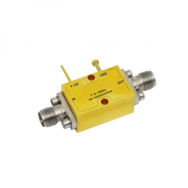 Ultra Wide Band Low Noise Amplifier From 6GHz to 18GHz With a Nominal 38dB Gain NF 2.2dB SMA Connectors