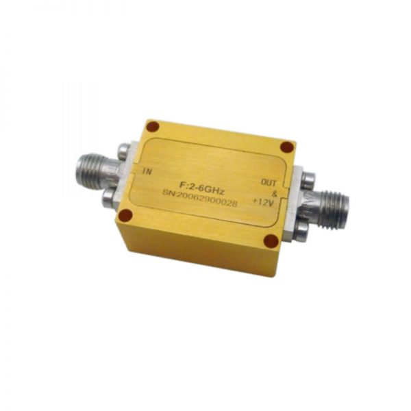 Ultra Wide Band Low Noise Amplifier From 0.01GHz to 18GHz With a Nominal 26dB Gain NF 4.5dB SMA Connectors