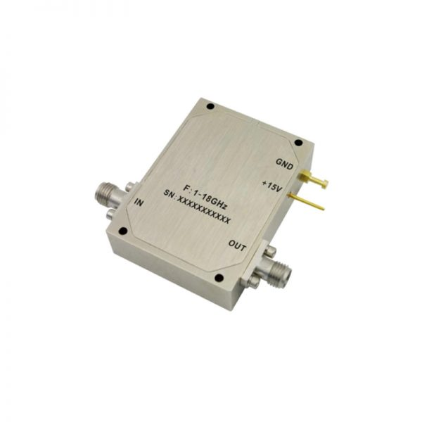 Ultra Wide Band Low Noise Amplifier From 1GHz to 18GHz With a Nominal 42dB Gain NF 3dB SMA Connectors