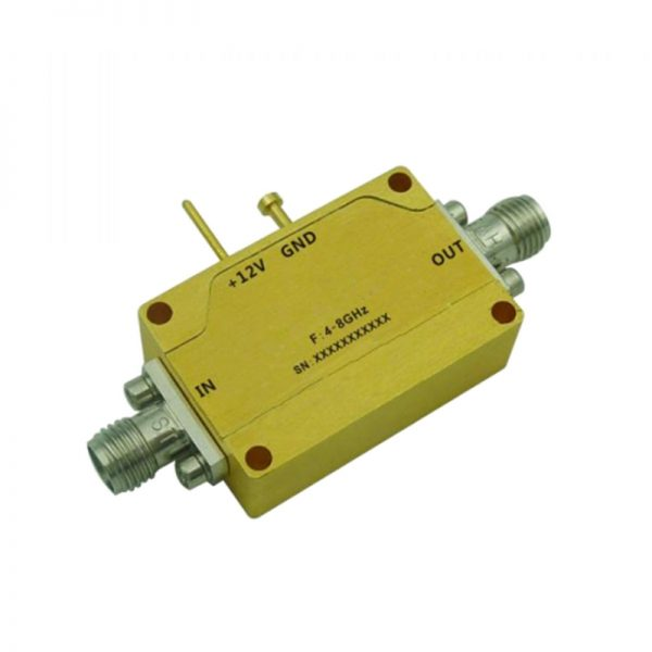 Ultra Wide Band Low Noise Amplifier From 4GHz to 8GHz With a Nominal 24dB Gain NF 1.5dB SMA Connectors