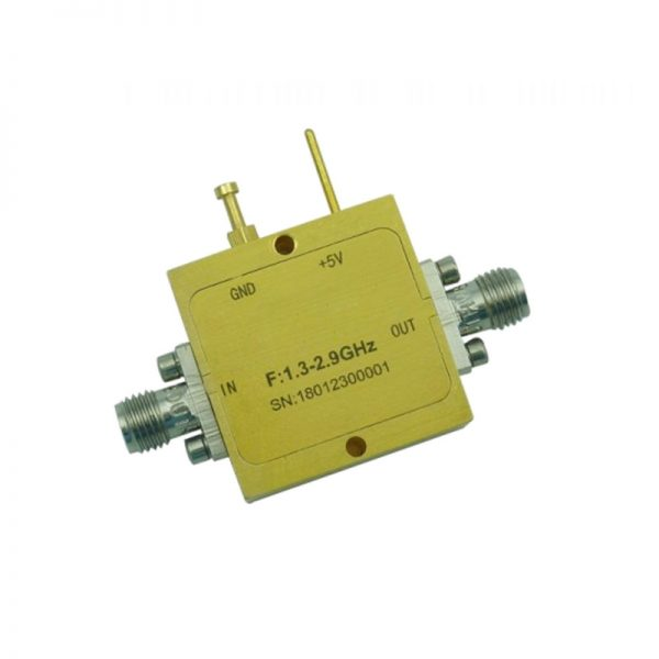 Ultra Wide Band Low Noise Amplifier From 1.3GHz to 2.9GHz With a Nominal 24dB Gain NF 1.3dB SMA Connectors