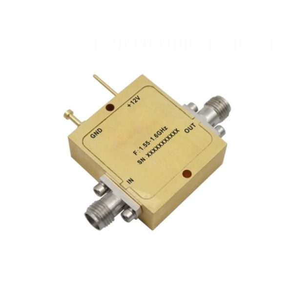 Ultra Wide Band Low Noise Amplifier From 1.55GHz to 1.6GHz With a Nominal 38dB Gain NF 1.2dB SMA Connectors