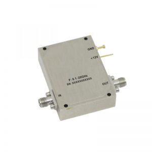Ultra Wide Band Low Noise Amplifier From 0.1GHz to 20GHz With a Nominal 39dB Gain NF 3.4dB SMA Connectors