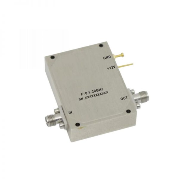 Ultra Wide Band Low Noise Amplifier From 0.1GHz to 10GHz With a Nominal 30dB Gain NF 2.5dB SMA Connectors