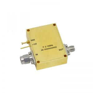 Ultra Wide Band Low Noise Amplifier From 2GHz to 15GHz With a Nominal 31dB Gain NF 3.5dB SMA Connectors
