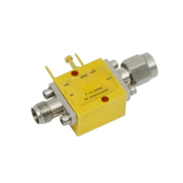 Ultra Wide Band Low Noise Amplifier From 15GHz to 22GHz With a Nominal 20dB Gain NF 2dB 2.92mm Connectors