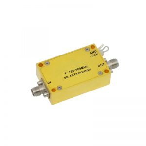 Ultra Wide Band Low Noise Amplifier From 0.15GHz to 0.5GHz With a Nominal 26dB Gain NF 0.7dB SMA Connectors
