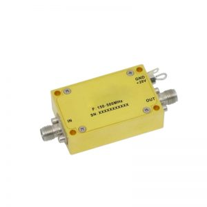 Ultra Wide Band Low Noise Amplifier From 0.15GHz to 0.5GHz With a Nominal 42dB Gain NF 0.8dB SMA Connectors