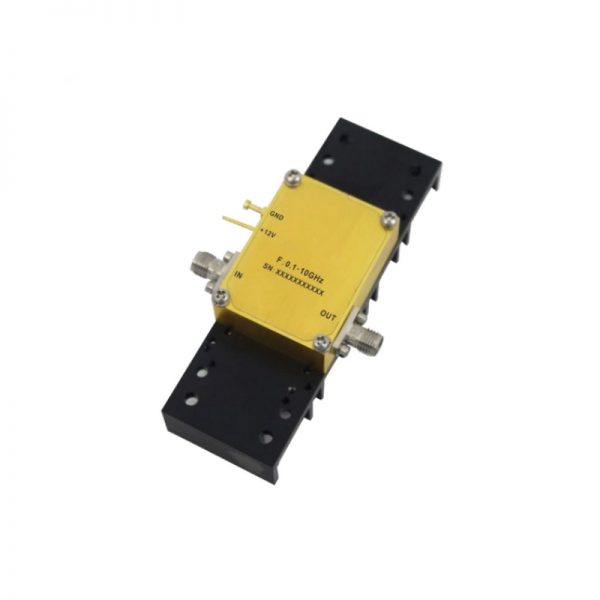 Ultra Wide Band Low Noise Amplifier From 0.1GHz to 20GHz With a Nominal 33dB Gain NF 2.8dB SMA Connectors