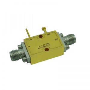 Ultra Wide Band Low Noise Amplifier From 17GHz to 21.2GHz With a Nominal 35dB Gain NF 2dB SMA Connectors