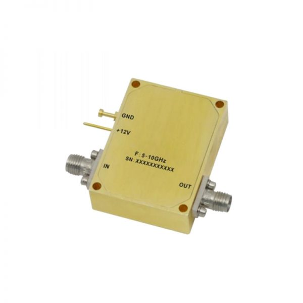 Ultra Wide Band Low Noise Amplifier From 5GHz to 10GHz With a Nominal 38dB Gain NF 2.3dB SMA Connectors