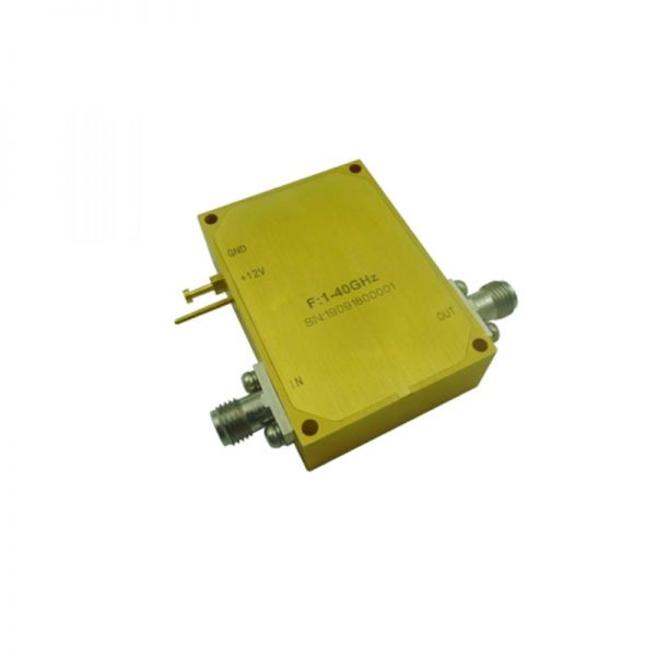 Ultra Wide Band Low Noise Amplifier From 1GHz to 40GHz With a Nominal 38dB Gain NF 5.5dB 2.92mm Connectors