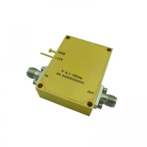 Ultra Wide Band Low Noise Amplifier From 0.1GHz to 18GHz With a Nominal 29dB Gain NF 2.8dB SMA Connectors