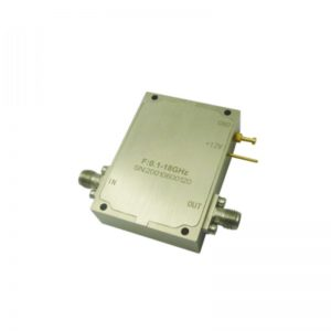 Ultra Wide Band Low Noise Amplifier From 0.1GHz to 18GHz With a Nominal 43dB Gain NF 3dB SMA Connectors
