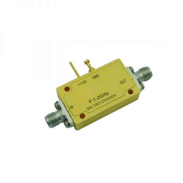 Ultra Wide Band Low Noise Amplifier From 1GHz to 2GHz With a Nominal 60dB Gain NF 0.7dB SMA Connectors