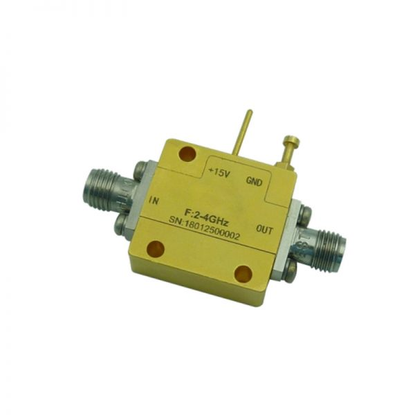 Ultra Wide Band Low Noise Amplifier From 2GHz to 4GHz With a Nominal 52dB Gain NF 0.75dB SMA Connectors