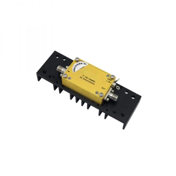 Ultra Wide Band Low Noise Amplifier From 0.156GHz to 0.164GHz With a Nominal 50dB Gain NF 1dB SMA Connectors