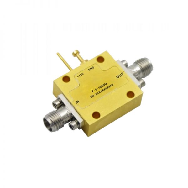 Ultra Wide Band Low Noise Amplifier From 6GHz to 18GHz With a Nominal 50dB Gain NF 1.5dB SMA Connectors