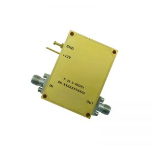 Ultra Wide Band Low Noise Amplifier From 26.5GHz to 40GHz With a Nominal 50dB Gain NF 3dB 2.92mm Connectors