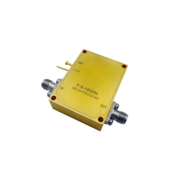 Ultra Wide Band Low Noise Amplifier From 6GHz to 18GHz With a Nominal 44dB Gain NF 2dB SMA Connectors