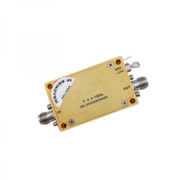 Ultra Wide Band Low Noise Amplifier From 0.5GHz to 1GHz With a Nominal 41dB Gain NF 0.95dB SMA Connectors