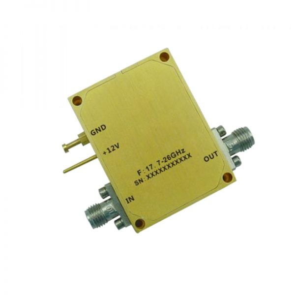 Ultra Wide Band Low Noise Amplifier From 17.7GHz to 26GHz With a Nominal 25dB Gain NF 3dB 2.92mm Connectors