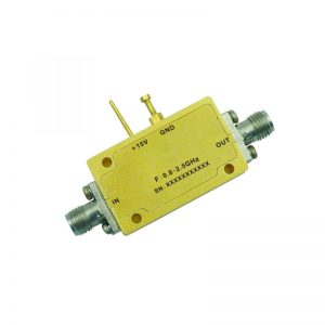 Ultra Wide Band Low Noise Amplifier From 0.8GHz to 2.5GHz With a Nominal 58dB Gain NF 1dB SMA Connectors