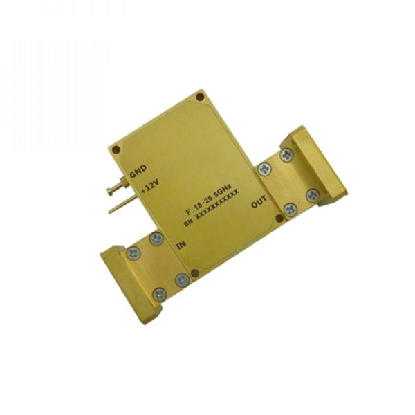 Ultra Wide Band Low Noise Amplifier From 18GHz to 26.5GHz With a Nominal 50dB Gain NF 3.5dB WR42 Connectors