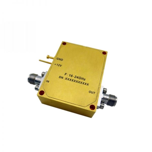 Ultra Wide Band Low Noise Amplifier From 16GHz to 24GHz With a Nominal 44dB Gain NF 1.8dB 2.92mm Connectors