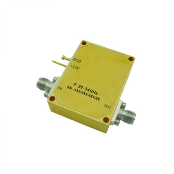 Ultra Wide Band Low Noise Amplifier From 20GHz to 34GHz With a Nominal 45dB Gain NF 2dB 2.92mm Connectors
