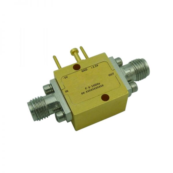 Ultra Wide Band Low Noise Amplifier From 6GHz to 15GHz With a Nominal 25dB Gain NF 1.4dB SMA Connectors