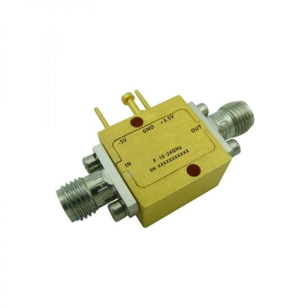 Ultra Wide Band Low Noise Amplifier From 16GHz to 24GHz With a Nominal 23dB Gain NF 1.8dB SMA Connectors