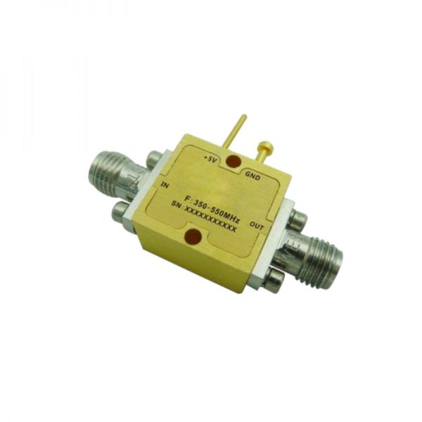Ultra Wide Band Low Noise Amplifier From 0.33GHz to 0.55GHz With a Nominal 17dB Gain NF 1.1dB SMA Connectors