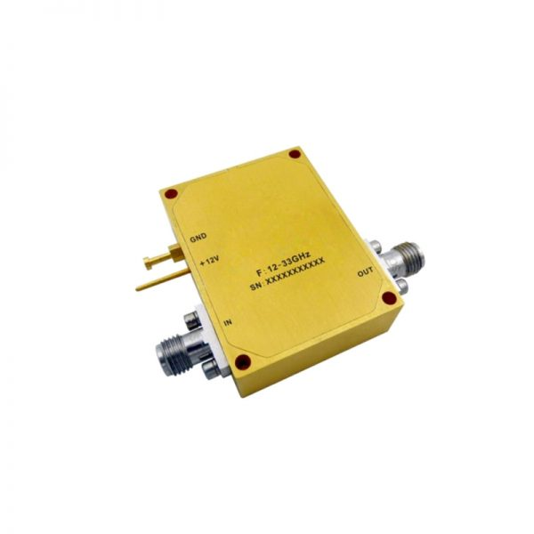 Ultra Wide Band Low Noise Amplifier From 12GHz to 33GHz With a Nominal 34dB Gain NF 2.5dB 2.92mm-Female Connectors