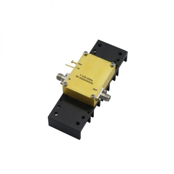 Ultra Wide Band Low Noise Amplifier From 0.05GHz to 22GHz With a Nominal 29dB Gain NF 1.8dB SMA Connectors