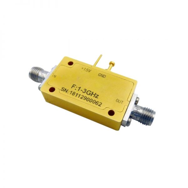 Ultra Wide Band Low Noise Amplifier From 0.1GHz to 4GHz With a Nominal 34dB Gain NF 3dB SMA Connectors